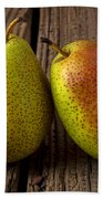 Pear Still Life Bath Towel