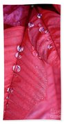 Pearls On Poinsettia Hand Towel