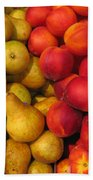 Pears And Peaches. Fresh Market Series Bath Towel
