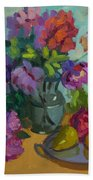 Pears And Roses Bath Towel