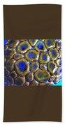 Pebbles Marbled Blue Bath Towel