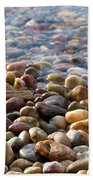 Pebbles On The Shore Bath Towel