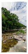 Pedernales River - Downstream Bath Towel