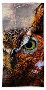 Peeking Owl Bath Towel