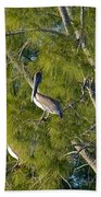 Pelican In The Trees Bath Towel