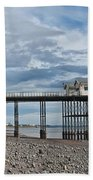 Penarth Pier Panorama 1 Bath Towel