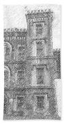 Pencil Drawing Of Old Jail Bath Towel