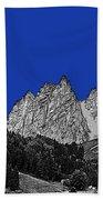 Pencil Sketch Of Dolomites Bath Towel