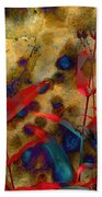 Penstemon Abstract 2 Bath Towel