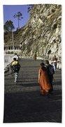 People Walking On The Path Leading To Shrine Of Vaishno Devi Bath Towel