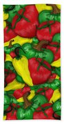 Peppers And Tomatos Bath Towel