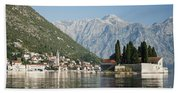 Perast In Kotor Bay Montenegro Bath Towel