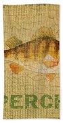 Perch On Burlap Bath Towel
