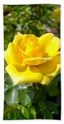 Perfect Yellow Rose Bath Towel