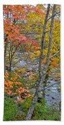 Perkiomen Creek - Perkiomenville Pa - Autumn Foliage Bath Towel