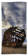 Peter Iredale Shipwreck Sunrise Hand Towel