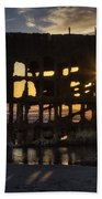 Peter Iredale Shipwreck Sunset Hand Towel