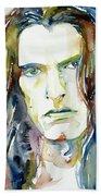 Peter Steele Portrait.4 Bath Towel