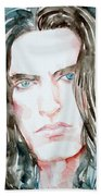 Peter Steele Watercolor Portrait Bath Towel