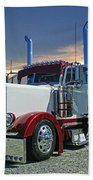 Peterbilt At The Beach  Bath Towel