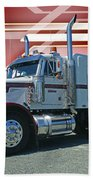 Peterbilt With Burgundy Abstract Hand Towel