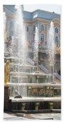 Peterhof Palace Fountains Bath Towel