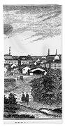 Petersburg, Virginia, 1856 Bath Towel