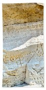 Petroglyphs At Petroglyph Point In Lava Beds Nmon-ca Bath Towel