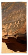 Petroglyphs Bath Sheet by Valeria Donaldson