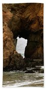 Pfeiffer Beach Rocks In Big Sur Bath Towel