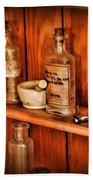 Pharmacy - A Bottle Of Poison Bath Towel