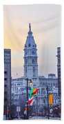 Philadelphia Cityhall In The Morning Bath Towel