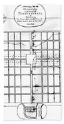 Philadelphia: Map, 1683 Bath Towel