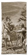 Phineus Is Delivered From The Harpies Hand Towel