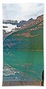 Photographers At Lake Louise In Banff National Park-ab Bath Towel