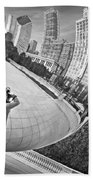 Photographing The Bean - Cloud Gate - Chicago Bath Towel