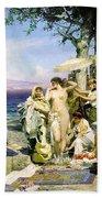 Phryne At The Festival Of Poseidon In Eleusin Bath Towel