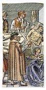 Physician & Plague Victim Bath Towel