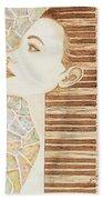 Piano Spirit Original Coffee And Watercolors Series Bath Towel