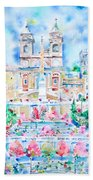 Piazza Di Spagna - Rome Bath Towel