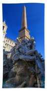 Piazza Navona Fountain Bath Towel