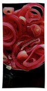 Pickled Red Onions Bath Towel