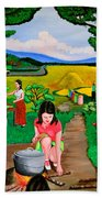 Picnic With The Farmers Bath Towel