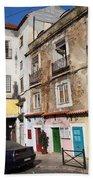 Picturesque Houses In Lisbon Bath Towel