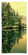 Picturesque Norway Landscape Bath Towel