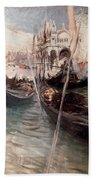 Pier And Saint Marc In Venice Bath Towel