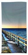 Pier - Chesapeake Bay Bridge #1 Bath Towel