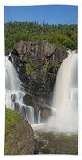 Pigeon River High Falls 11 Bath Towel