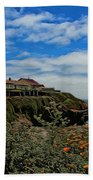 Pigeon Point Lighthouse Painted Bath Towel