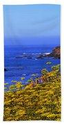Pigeon Point Lighthouse Panoramic Bath Towel